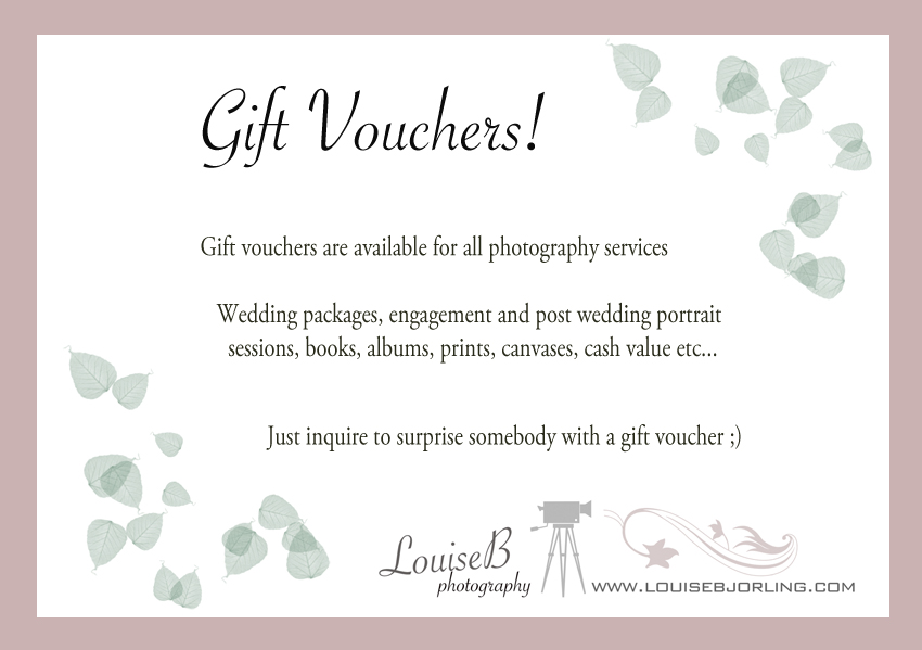 Wedding Gift Vouchers : Photography gift vouchers ? - London photographer